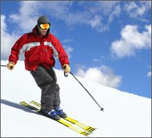 Skifahren im Grödnertal